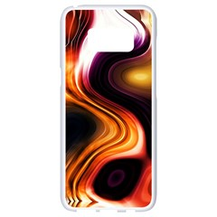 Colourful Abstract Background Design Samsung Galaxy S8 White Seamless Case
