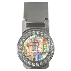 A Village Drawn In A Doodle Style Money Clips (cz)