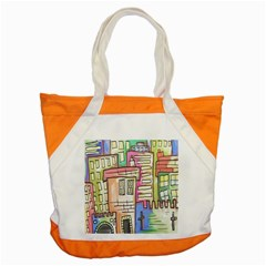 A Village Drawn In A Doodle Style Accent Tote Bag