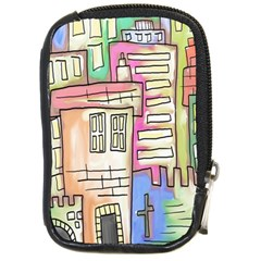A Village Drawn In A Doodle Style Compact Camera Cases