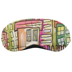 A Village Drawn In A Doodle Style Sleeping Masks