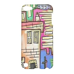 A Village Drawn In A Doodle Style Apple Ipod Touch 5 Hardshell Case