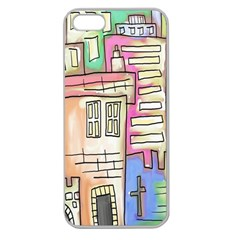 A Village Drawn In A Doodle Style Apple Seamless Iphone 5 Case (clear)