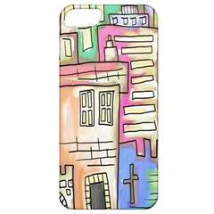 A Village Drawn In A Doodle Style Apple iPhone 5 Classic Hardshell Case