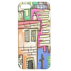 A Village Drawn In A Doodle Style Apple iPhone 5 Hardshell Case with Stand