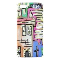 A Village Drawn In A Doodle Style Apple Iphone 5 Premium Hardshell Case