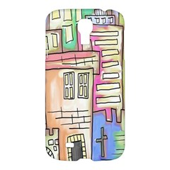 A Village Drawn In A Doodle Style Samsung Galaxy S4 I9500/i9505 Hardshell Case