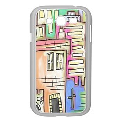 A Village Drawn In A Doodle Style Samsung Galaxy Grand Duos I9082 Case (white)