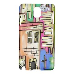 A Village Drawn In A Doodle Style Samsung Galaxy Note 3 N9005 Hardshell Case