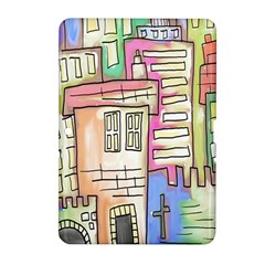 A Village Drawn In A Doodle Style Samsung Galaxy Tab 2 (10.1 ) P5100 Hardshell Case