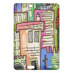 A Village Drawn In A Doodle Style Amazon Kindle Fire HD (2013) Hardshell Case