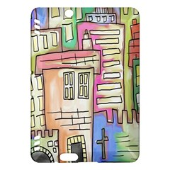 A Village Drawn In A Doodle Style Kindle Fire Hdx Hardshell Case