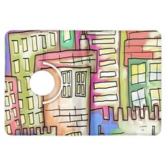 A Village Drawn In A Doodle Style Kindle Fire Hdx Flip 360 Case