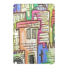 A Village Drawn In A Doodle Style Samsung Galaxy Tab Pro 10 1 Hardshell Case