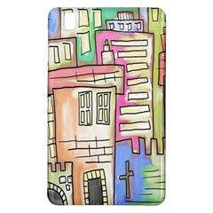 A Village Drawn In A Doodle Style Samsung Galaxy Tab Pro 8.4 Hardshell Case