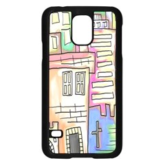 A Village Drawn In A Doodle Style Samsung Galaxy S5 Case (black)
