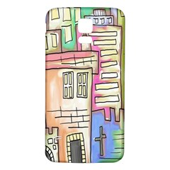 A Village Drawn In A Doodle Style Samsung Galaxy S5 Back Case (white)