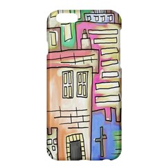 A Village Drawn In A Doodle Style Apple iPhone 6 Plus/6S Plus Hardshell Case