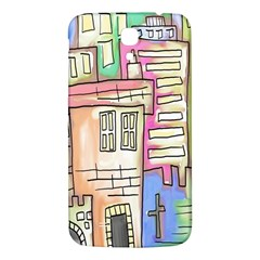 A Village Drawn In A Doodle Style Samsung Galaxy Mega I9200 Hardshell Back Case