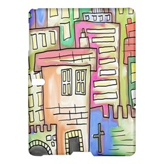 A Village Drawn In A Doodle Style Samsung Galaxy Tab S (10 5 ) Hardshell Case