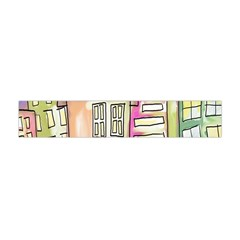 A Village Drawn In A Doodle Style Flano Scarf (mini)