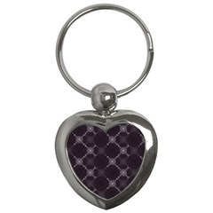 Abstract Seamless Pattern Background Key Chains (heart)