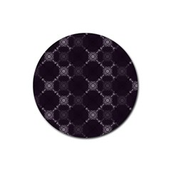 Abstract Seamless Pattern Background Rubber Round Coaster (4 pack)