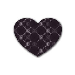 Abstract Seamless Pattern Background Heart Coaster (4 pack)
