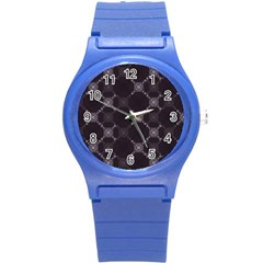 Abstract Seamless Pattern Background Round Plastic Sport Watch (S)