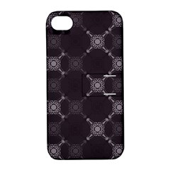Abstract Seamless Pattern Background Apple iPhone 4/4S Hardshell Case with Stand