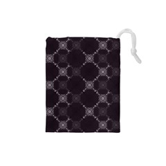 Abstract Seamless Pattern Background Drawstring Pouches (small)