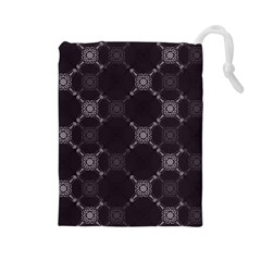 Abstract Seamless Pattern Background Drawstring Pouches (Large)