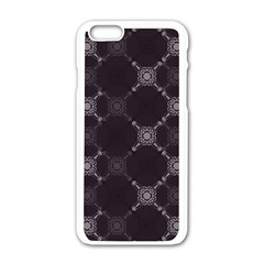 Abstract Seamless Pattern Background Apple iPhone 6/6S White Enamel Case