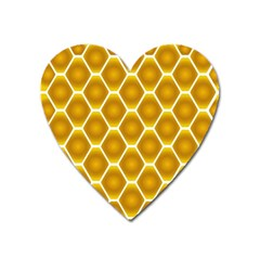 Snake Abstract Pattern Heart Magnet