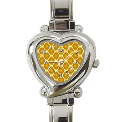 Snake Abstract Pattern Heart Italian Charm Watch