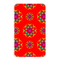 Rainbow Colors Geometric Circles Seamless Pattern On Red Background Memory Card Reader