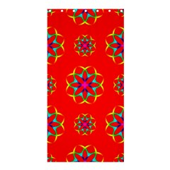 Rainbow Colors Geometric Circles Seamless Pattern On Red Background Shower Curtain 36  x 72  (Stall)