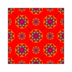 Rainbow Colors Geometric Circles Seamless Pattern On Red Background Acrylic Tangram Puzzle (6  x 6 )