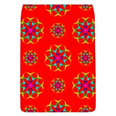 Rainbow Colors Geometric Circles Seamless Pattern On Red Background Flap Covers (l)