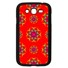 Rainbow Colors Geometric Circles Seamless Pattern On Red Background Samsung Galaxy Grand DUOS I9082 Case (Black)