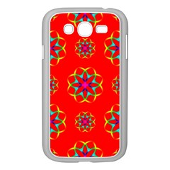Rainbow Colors Geometric Circles Seamless Pattern On Red Background Samsung Galaxy Grand Duos I9082 Case (white)