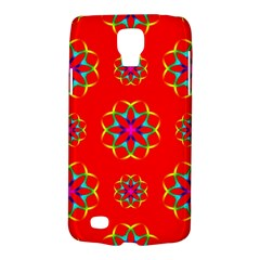 Rainbow Colors Geometric Circles Seamless Pattern On Red Background Galaxy S4 Active