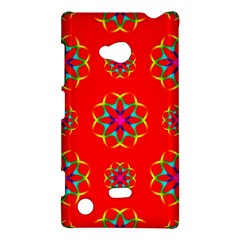 Rainbow Colors Geometric Circles Seamless Pattern On Red Background Nokia Lumia 720