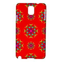 Rainbow Colors Geometric Circles Seamless Pattern On Red Background Samsung Galaxy Note 3 N9005 Hardshell Case
