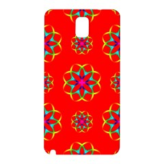 Rainbow Colors Geometric Circles Seamless Pattern On Red Background Samsung Galaxy Note 3 N9005 Hardshell Back Case