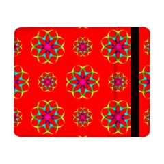 Rainbow Colors Geometric Circles Seamless Pattern On Red Background Samsung Galaxy Tab Pro 8.4  Flip Case