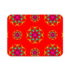 Rainbow Colors Geometric Circles Seamless Pattern On Red Background Double Sided Flano Blanket (Mini)