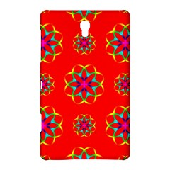 Rainbow Colors Geometric Circles Seamless Pattern On Red Background Samsung Galaxy Tab S (8 4 ) Hardshell Case