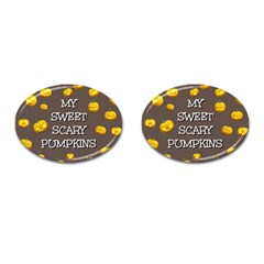 Hallowen My Sweet Scary Pumkins Cufflinks (oval)