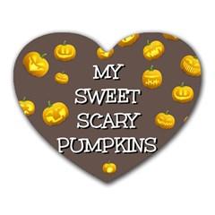 Hallowen My Sweet Scary Pumkins Heart Mousepads